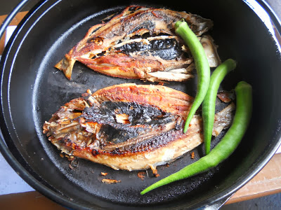 grilling fish in my cast iron skillet